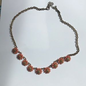 Flower statement necklace